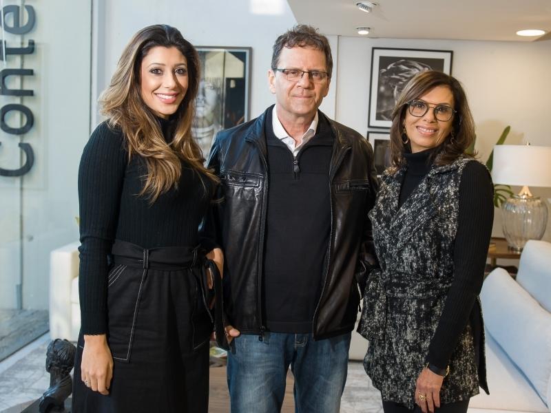 Thais Behar, Eduardo Behar e Elizete Henkin no coquetel  de apresentação do novo conceito da loja Contemporânea