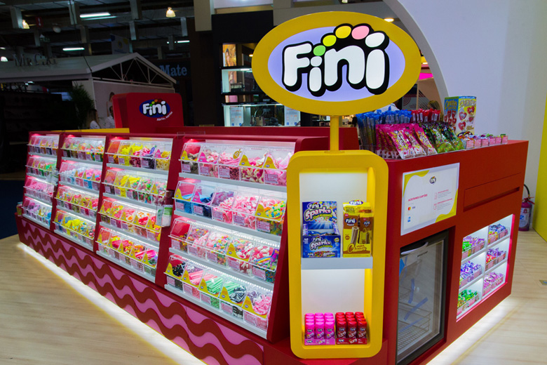 Novo quiosque da Fini, apresentado na ABF Expo 2019 - Corte para o Facebook