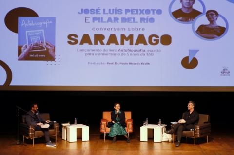 Obra de Saramago é tema de conversa com Pilar del Río e José Luís Peixoto na Pucrs