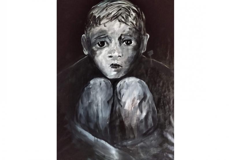 De Pelotas, Mário Schuster expõe a tela 'Ame-o ou deixe-o' na mostra