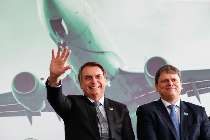 Tarcísio é elogiado com frequência pelo presidente Jair Bolsonaro como 'entregador de obras'