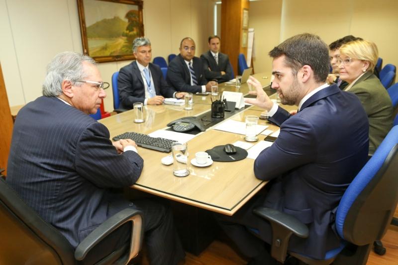No encontro, foi atualizada a situação do Regime de Recuperação Fiscal do Rio Grande do Sul
