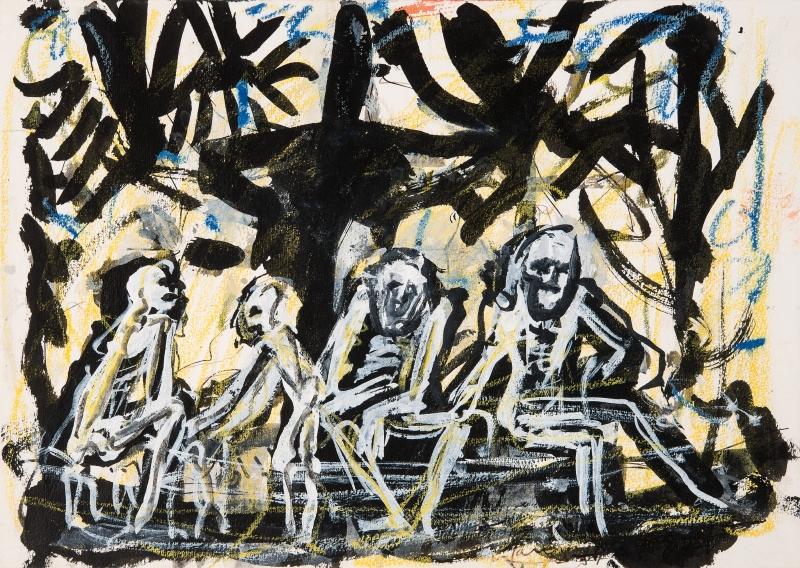 A miséria humana captada pelo artista: tela Mendigos do Parque da Redenção