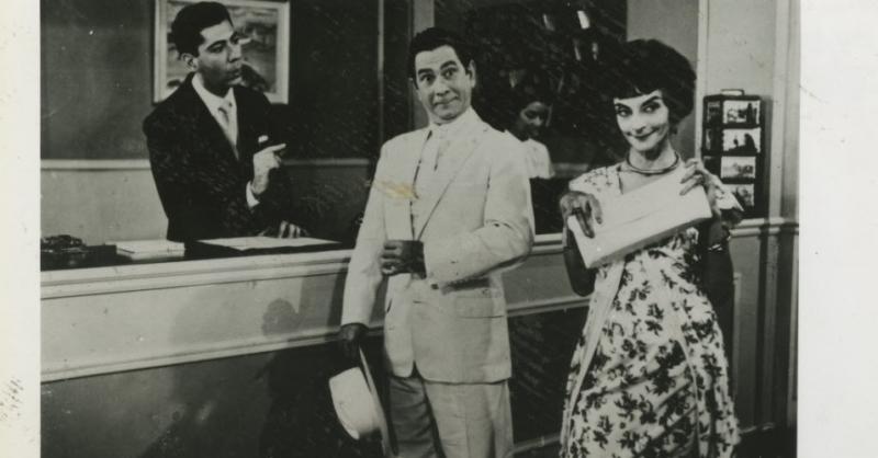 Oscarito e Zezé Macedo em O homem do Sputnik: Radamés fez a trilha do filme