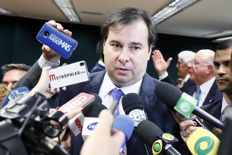 Maia afirmou que a ideia não tem apoio na Câmara dos Deputados
