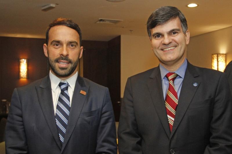 Eduardo Fernandez, presidente do Lide-RS, com Sérgio Segovia, presidente da Apex-Brasil