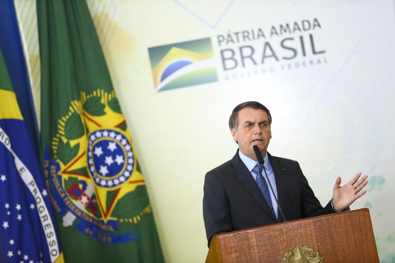 Em seu discurso,. Bolsonaro criticou programas sociais e destacou que jovens precisam de disciplina