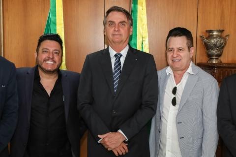 Em reunião com Bolsonaro, Bruno e Marrone são declarados embaixadores do turismo