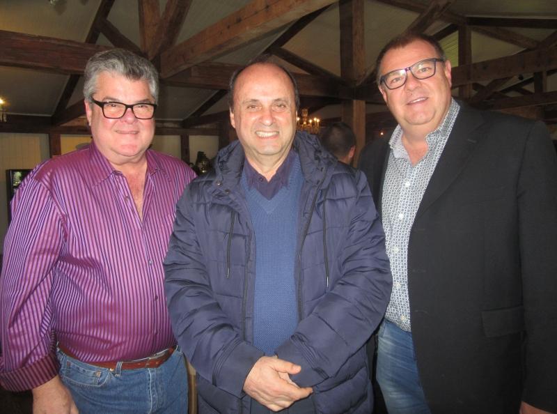 José Luiz Gandini com o prefeito de Gramado, Fedoca Bertolucci e Jefferson Fürstenau