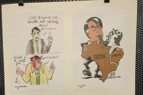 Cartunistas convocam protesto em frente à Câmara por fechamento de exposição