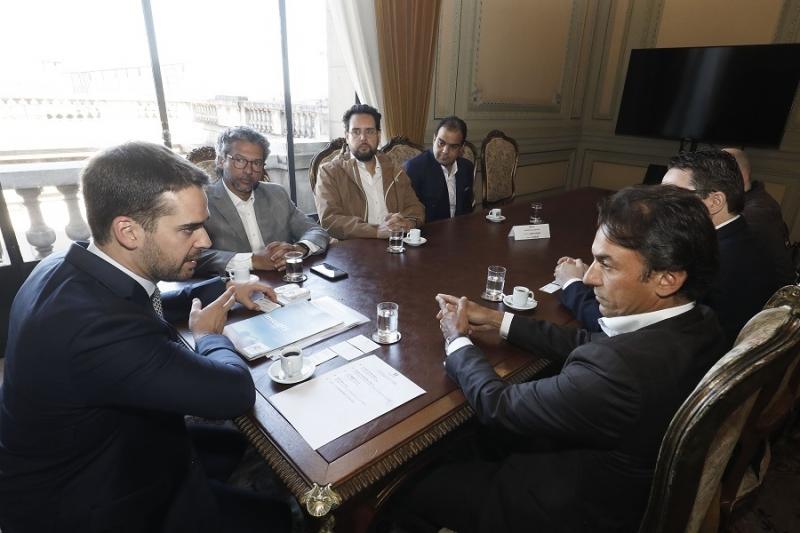 Governador recebeu representantes da rede no Palácio Piratini