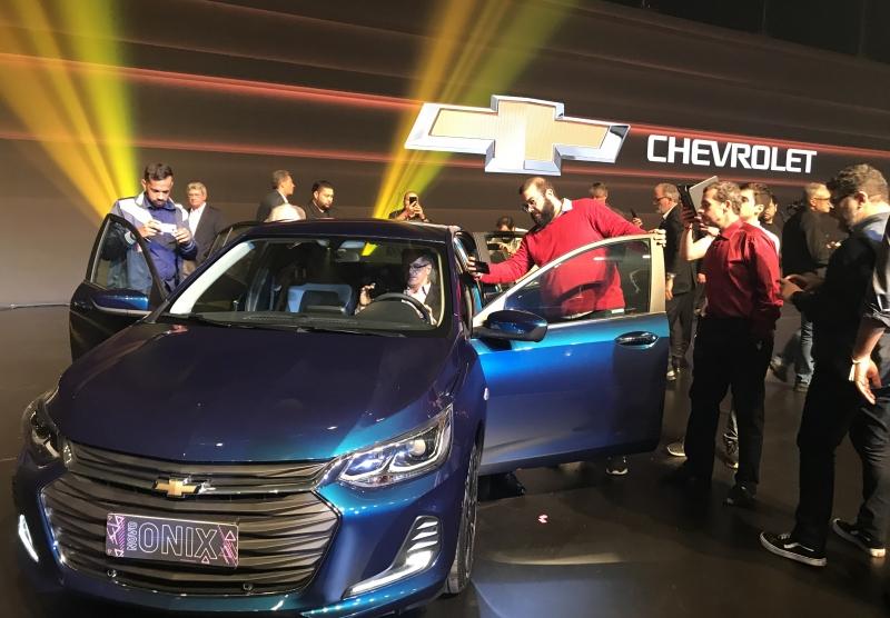 Novo Onix foi lançado em megaevento na Capital; a GM quer manter a liderança na categoria de carro