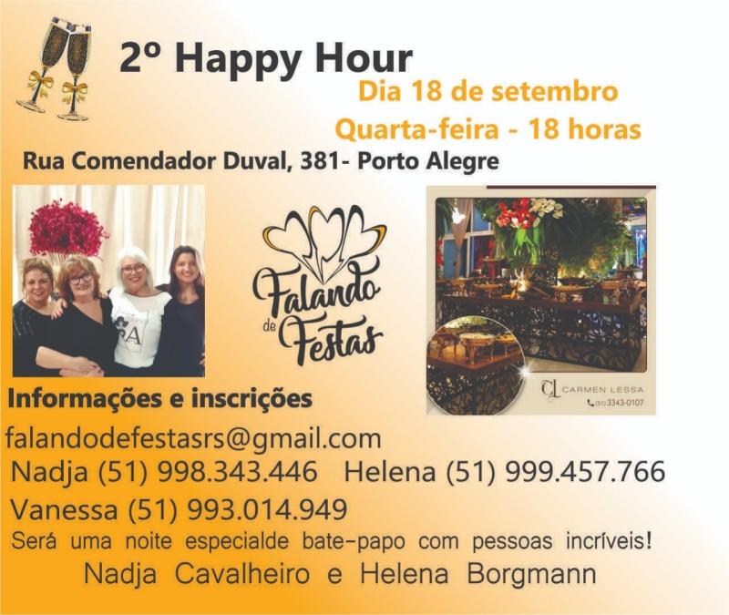 2º Happy Hour Falando de Festas