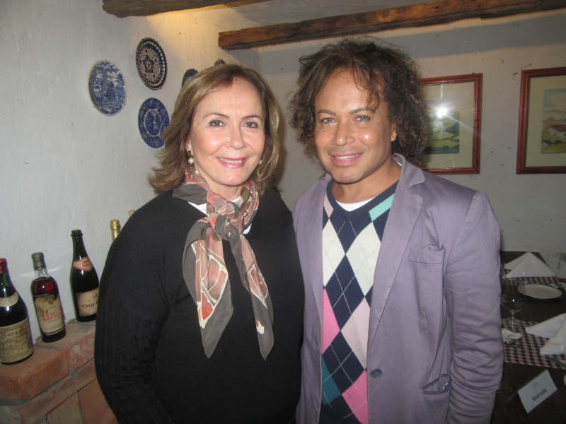 Fátima Cattani e Lucca Rossi, presidente em exercício da Acors