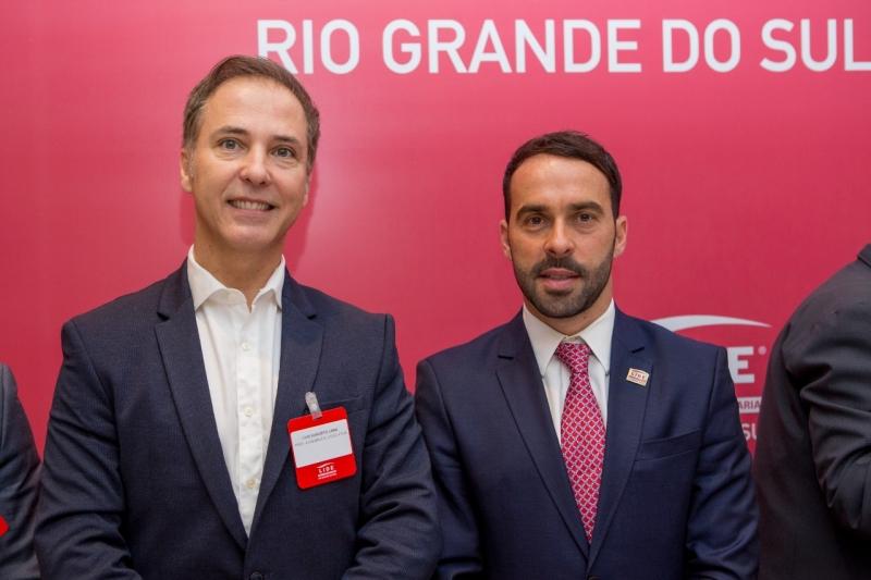 Luís Augusto Lara, presidente da Assembleia Legislativa, com Eduardo Fernandez em evento do Lide-RS no Country Club