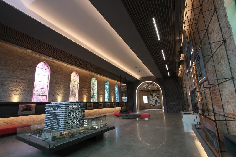 Antiga capela do  hospital também será revitalizada no projeto