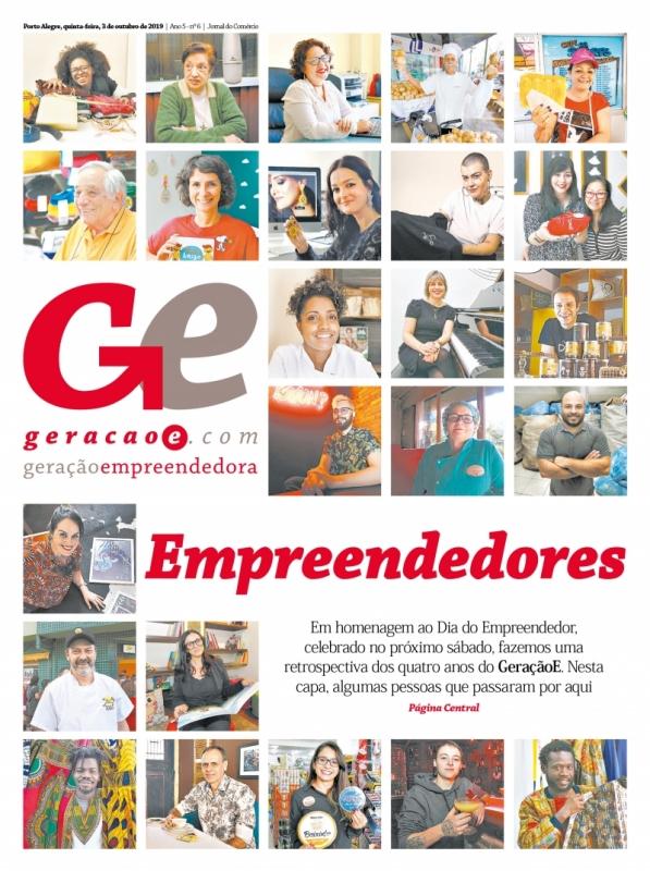 Capa do GeraçãoE do dia 3 de outubro de 2019