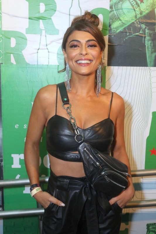 Juliana Paes no lounge da Heineken no Rock in Rio