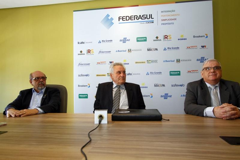Dirigentes apresentaram planos na reunião Tá na Mesa, da Federasul