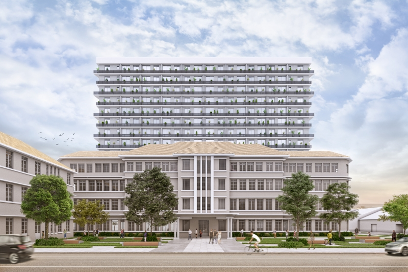 Antigo prédio do Hospital da Criança Santo Antônio terá área residencial e comercial