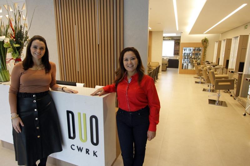 Entrevista com proprietárias do DUO Coworking de Beleza. Na foto: Fernanda Carvalho e Luciana Krieger