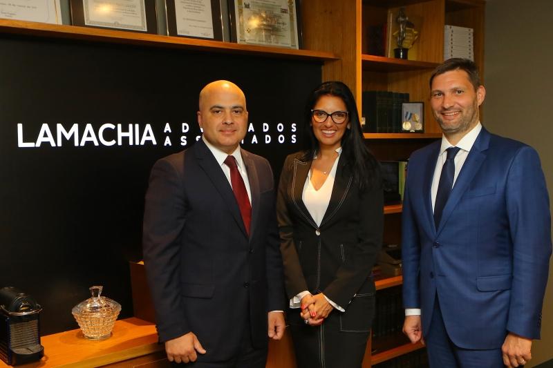 Rodrigo Dorneles, Márcia Helena Somensi e Leonardo Lamachia