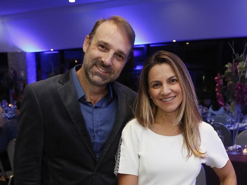 Rafael Kunzler e Simone Dartora participaram do jantar
