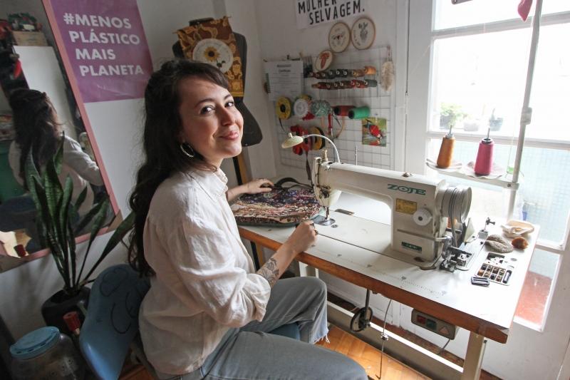 Matéria com Laura Amaral, da marca de bolsas artesanais Campana