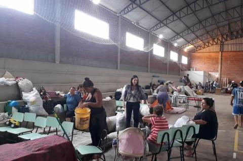 Sobe o número de desabrigados no Rio Grande do Sul após temporais