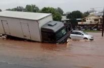 Chuva causa alagamentos e transtornos em rodovias gaúchas