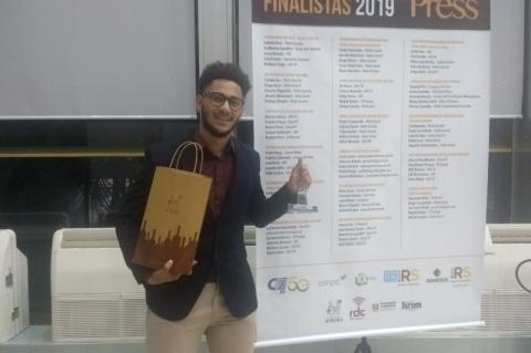 Estagiário do Jornal do Comércio ganha Prêmio Press
