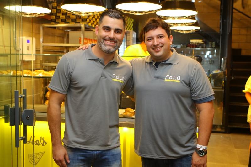 Felipe Marrelli e Diogo Thome inauguraram a Fold NYC Pizza Style,  no Pátio 24