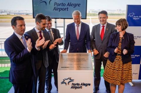 Fraport entrega obras e anuncia construção de terminal de cargas no Aeroporto de Porto Alegre