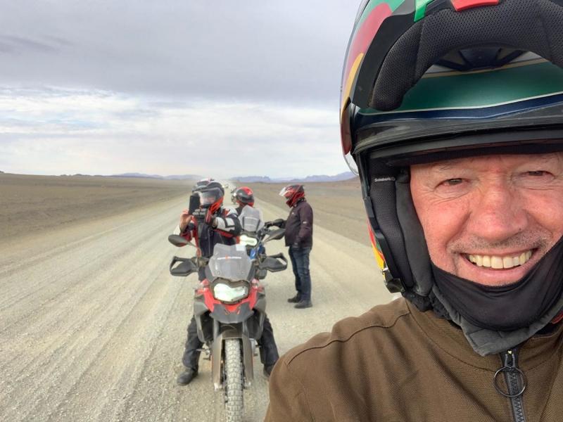 Walter Soldan na expedição pela África do Sul