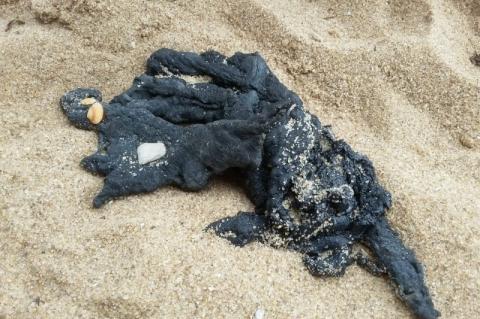 Óleo encontrado em praia do Rio é idêntico ao recolhido no Nordeste, diz Marinha