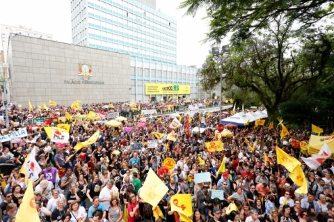 Sindicatos e servidores estaduais farão concentração na Praça da Matriz durante votação do pacote do governo