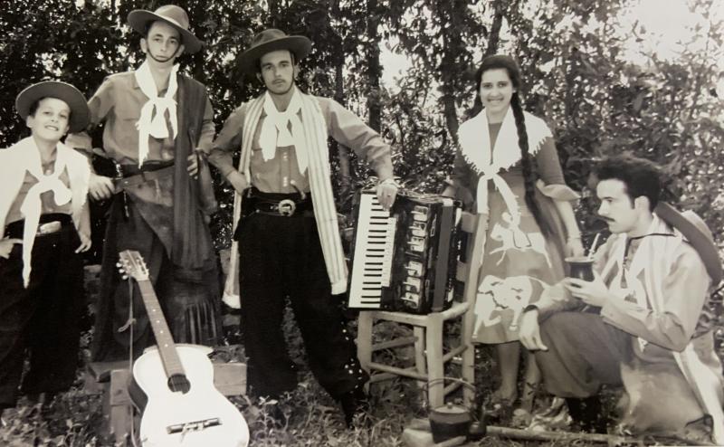 Irmãos Borges (Luiz Carlos, Albino, Ernando, Irenita e Antônio), em São Luiz Gonzaga, em 1961