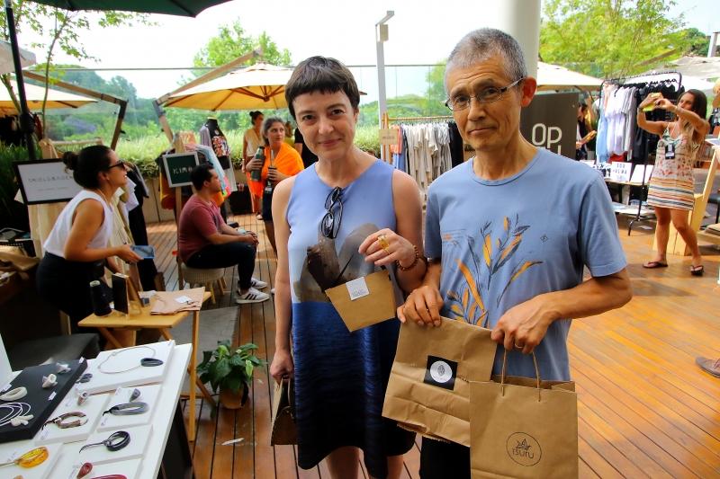 Open Feira de Design Na foto: Ana Medeiros ( bailarina ) e Hiroshi Nishiyan ( bailarino )
