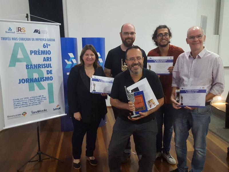 Patrícia, Natusch, Chidem (acima), Campos e Teixeira (d) foram os premiados