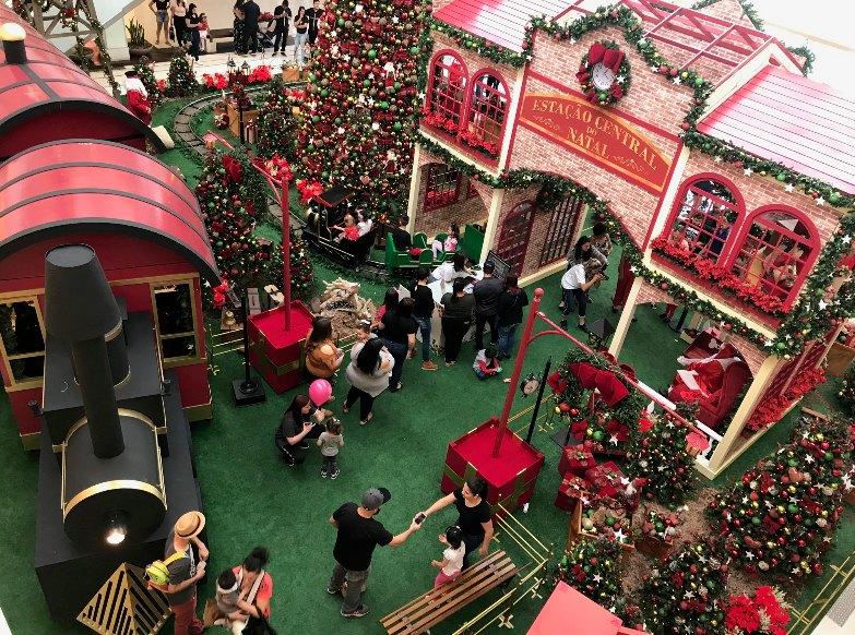 A Estação Central do Natal permanece no Canoas Shopping até 2 de janeiro de 2020