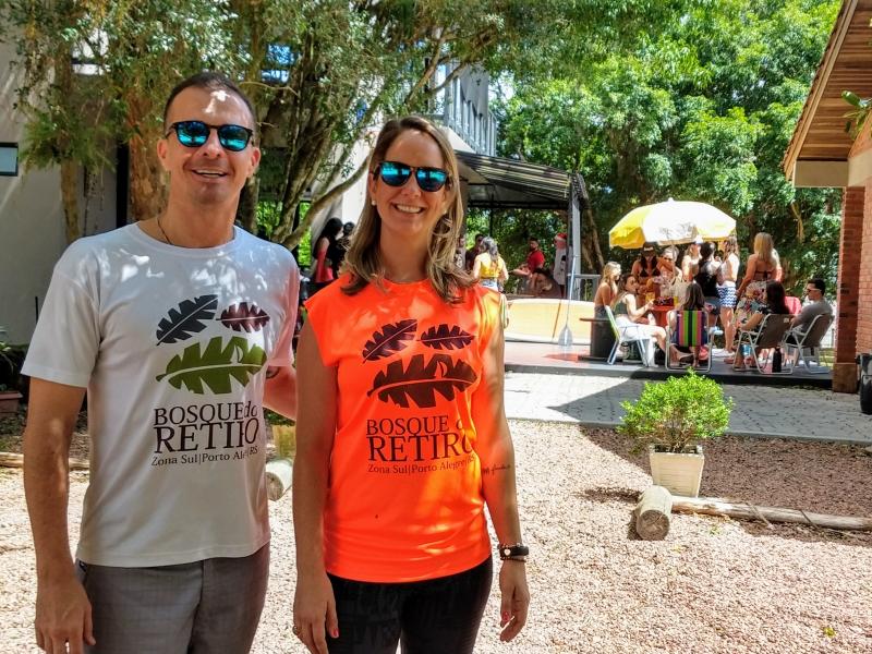 Fabiano e Raquel Endler administram o Bosque do Retiro, na Zona Sul