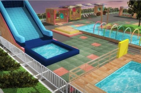 Shopping de Porto Alegre instala parque aquático com entrada gratuita