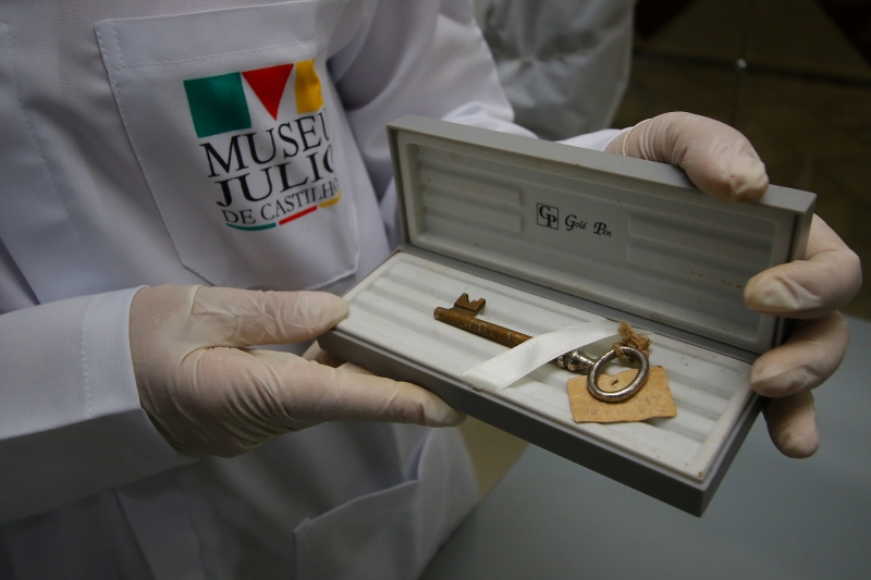 Chave do túmulo do político morto em 1903 se encontra no museu que leva seu nome