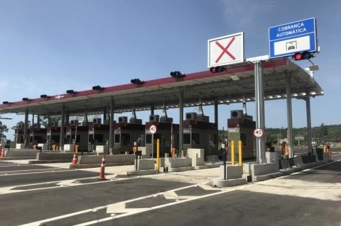 Posto de pedágio na BR-101 está pronto no Rio Grande do Sul