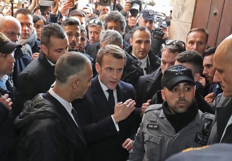 Macron levantou a voz, dizendo que a igreja de Santa Ana de Jerusalém pertence à França