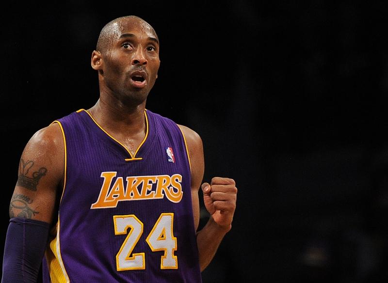 Bryant atuou por 20 anos no Los Angeles Lakers como ala-armador