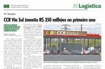 CCR Via Sul investiu R$ 350 milhões no primeiro ano