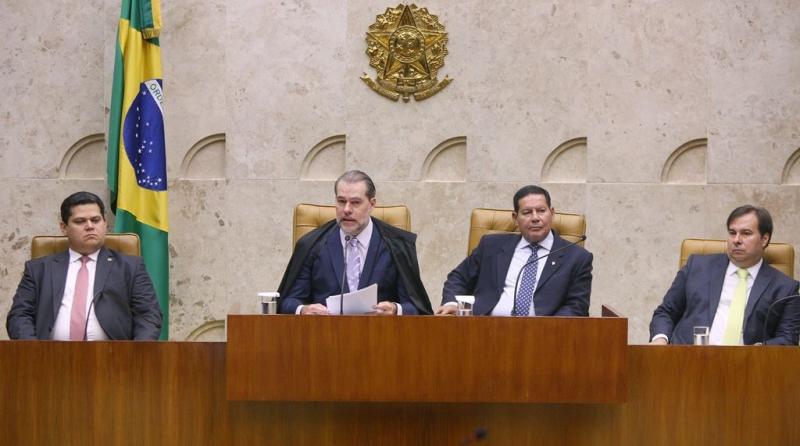 Em sua fala, Toffoli destacou que o semestre terá julgamentos de grande impacto econômico