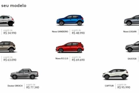 Renault passa a vender todos os seus automóveis 100% on-line