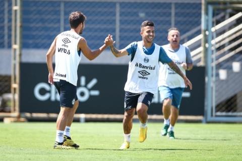Matheus Henrique e Everton dão susto e deixam treino mais cedo
